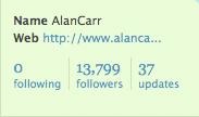 Alan Carr follows nobody