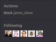 Jamie only follows celebs on Twitter