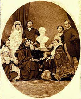 Photograph of Queen Victoria's family from a Carte de Visite