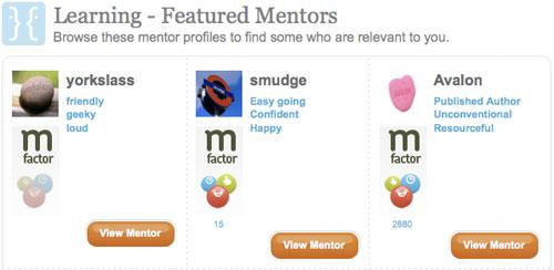 Mentors list