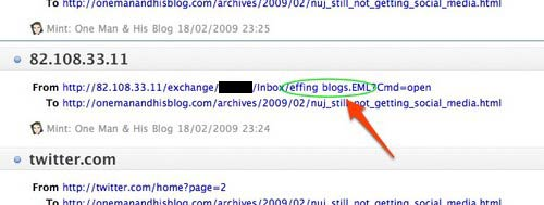 Effing blogs in the logfiles