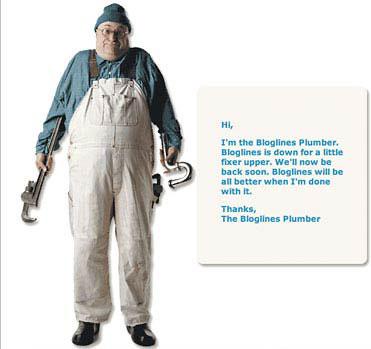 The Bloglines plumber