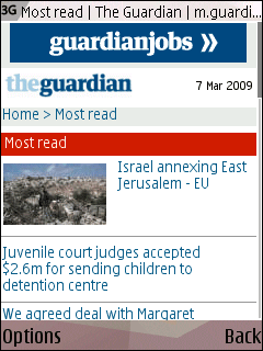 Guardian mobile most read