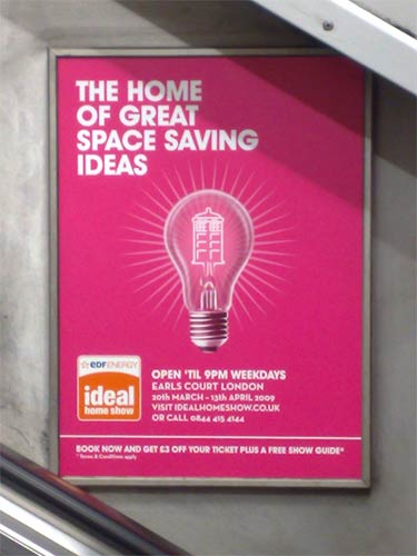 Ideal Home Exhibition TARDIS advert