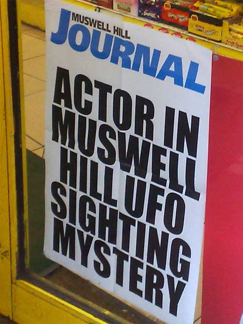 Muswell Hill UFO billboard