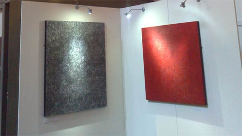 Two canvases in Ron William Webb's Chopin exhibition