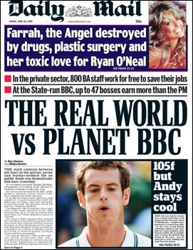 Daily Mail BBC front page