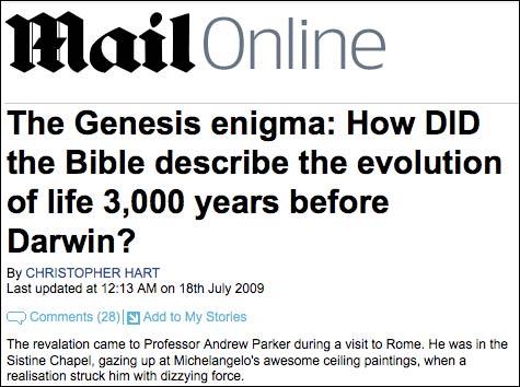 Mail Online Genesis story