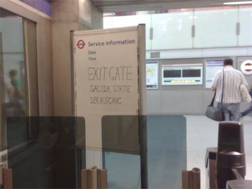 Multilingual tube sign at Kings Cross