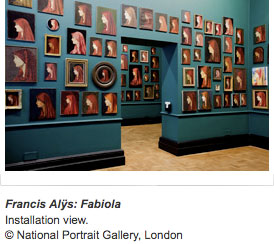National Portrait Gallery website image of Fabiola by Francis Alÿs