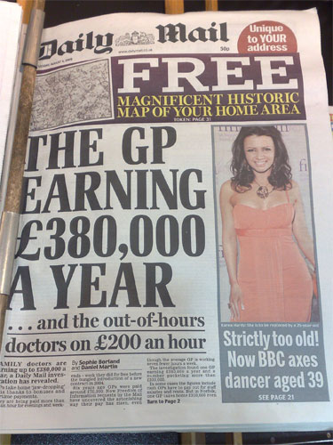 Daily Mail front page Tuesday 4th August
