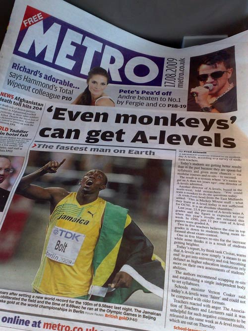 Metro's A-level monkeys