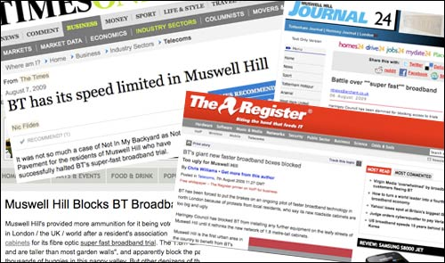 Muswell Hill press coverage