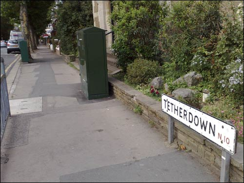 Tetherdown and one of the offending BT boxes