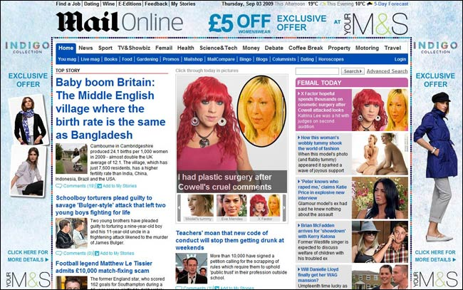 Daily Mail and M&S Indigo campaign