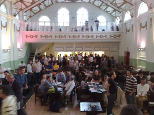 View from the stage at the London Linked Data meet-up