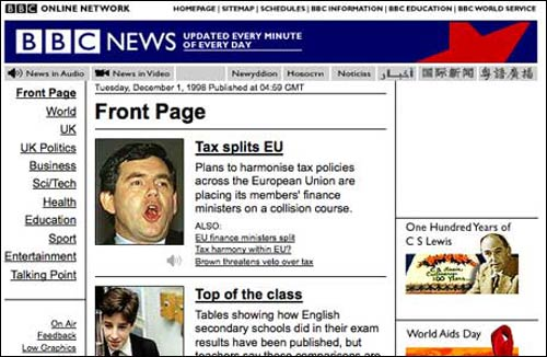 BBC News website in 1998