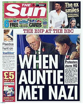 The Sun front page with Twitter paedo story