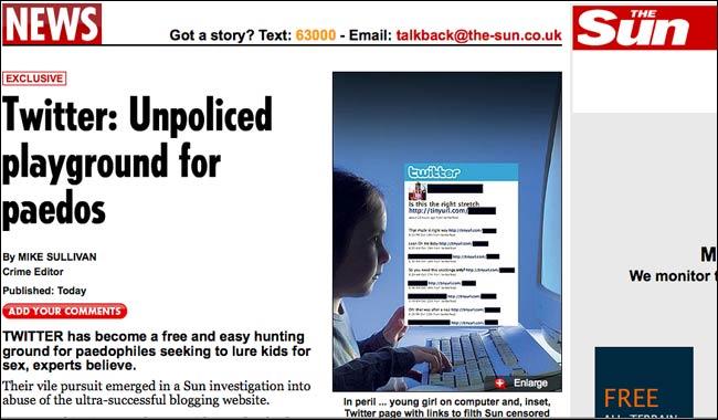 The Sun's Twitter paedo story