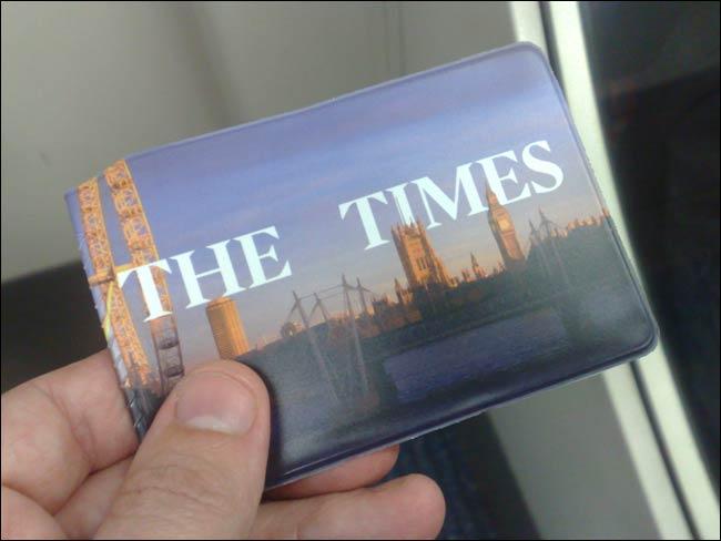 20091026 Times Oystercard wallet freebie
