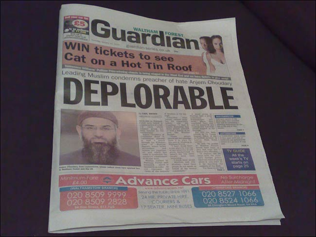 Waltham Forest Guardian front page