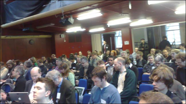 Audience in ULU for the start of the Linked Data day