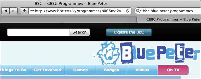 Blue Peter and the mysterious URL