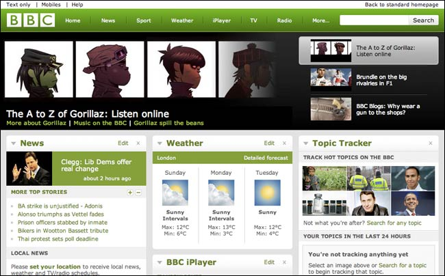 BBC Homepage Beta