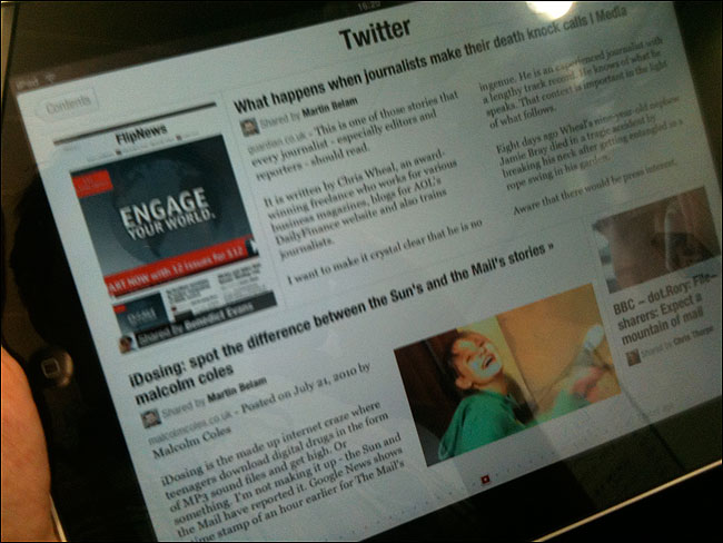 An overview of the Flipboard aplication