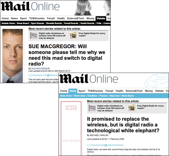 Daily Mail digital radios