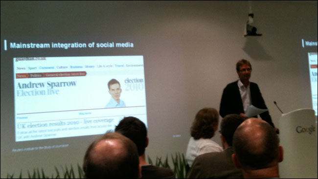 Nic Newman launches his study of social media during the 2010 General Election