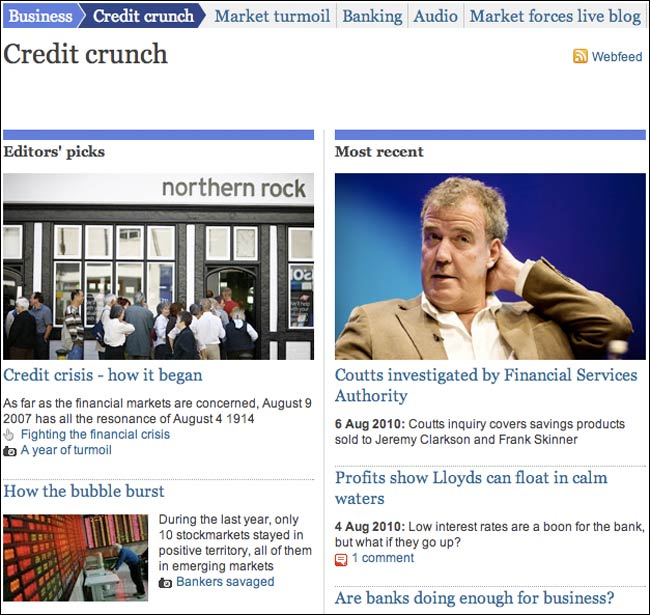 Credit Crunch tag page on guardian.co.uk