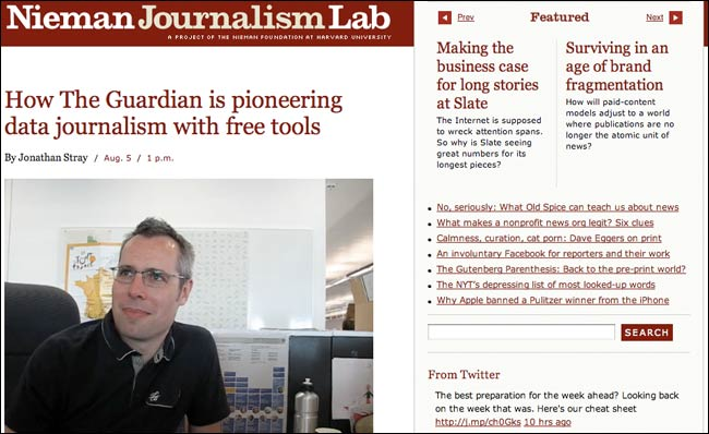 Simon Rogers on the Nieman Journalism Lab website