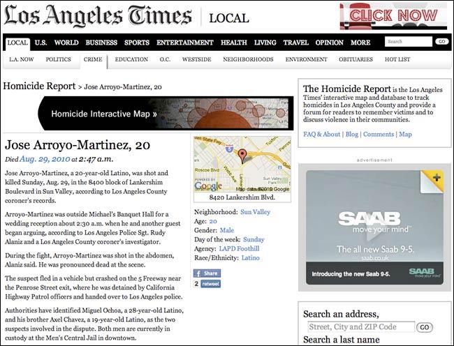 LA Times homicide blog