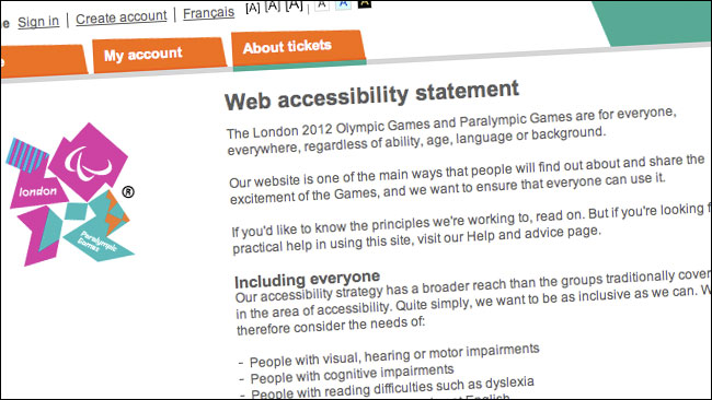 Olympic accessibility promise