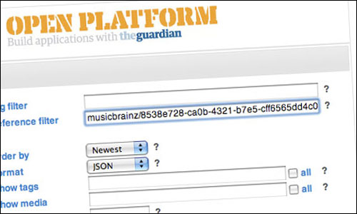 Querying the Guardian Open Platform API with a Musicbrainz ID
