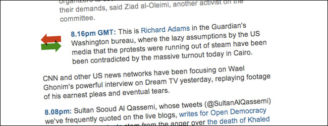Guardian Liveblog Substitution