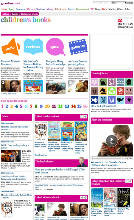 Guardian Children's books site