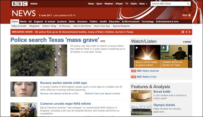 BBC reporting Texas mass grave