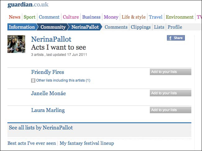 Nerina Pallot List