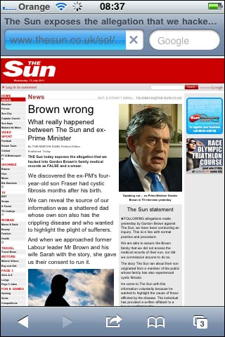 Brown Wrong story on the iPhone