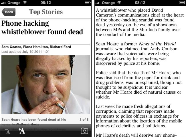 Times App Story View