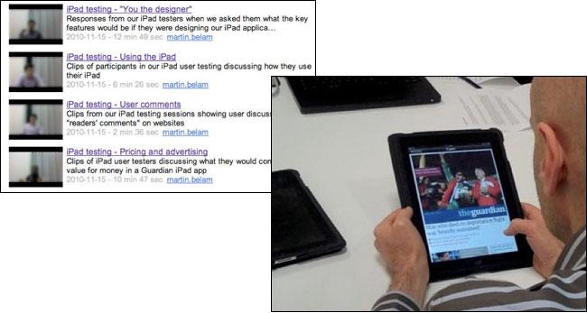 iPad user testing