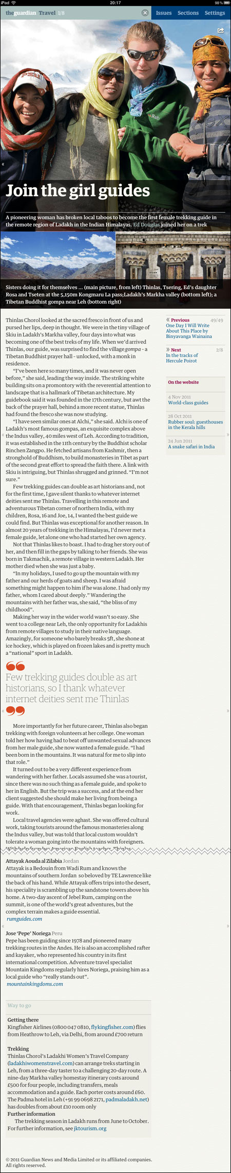 Ladakh iPad article