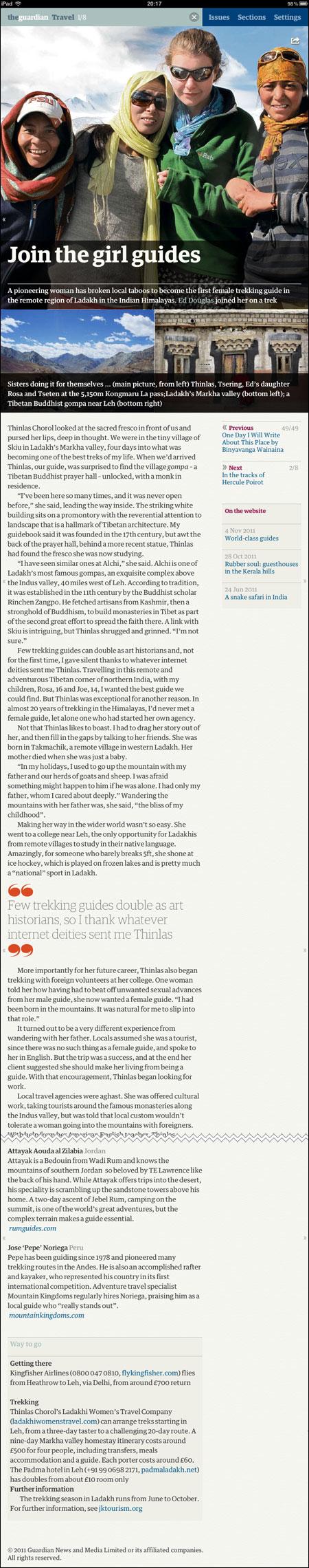 Ladakh iPad article