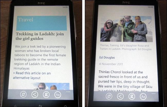 Ladakh article on Windows Phone