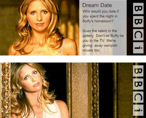 BBCi promo mock-up featuring Buffy