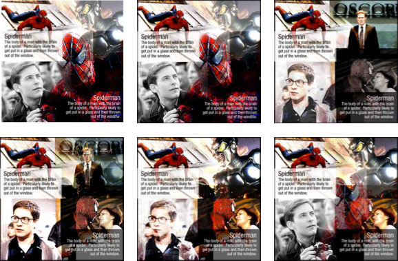 BBCi homepage mock-ups featuring Spiderman