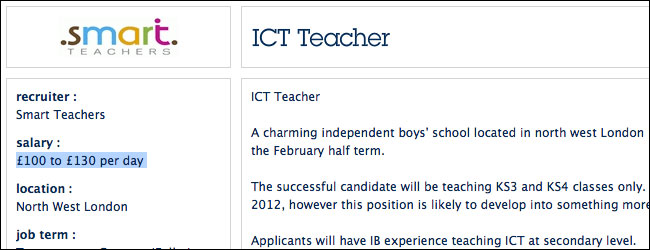 ICT teacher