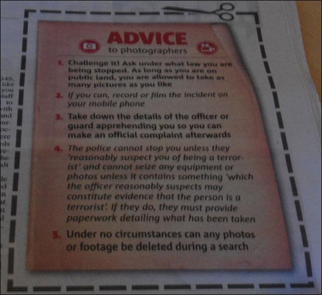 Metro Photographers Advice